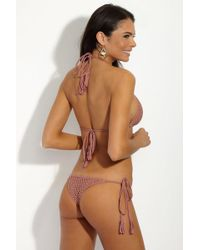 Acacia Swimwear Polihale Crochet Tie Side Bikini Bottom - Pink