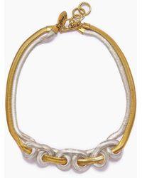 Lena Bernard Sekai Knotted Fishtail Collar Necklace - Metallic