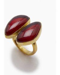 Lena Bernard - Naenia Red Quartz Gold Ring - Lyst