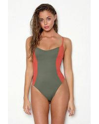 Peixoto Rosie Scoop Back One Piece Swimsuit - Terracotta Forest - Multicolour