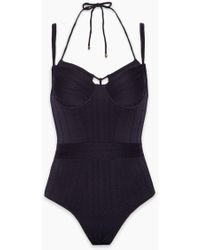 Marlies Dekkers - Holi Vintage Wired Padded One Piece Swimsuit - Dark Blue - Lyst