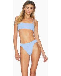 df780a73d5e Ellejay - Lauren Bandeau Bikini Top - Blue Texture - Lyst