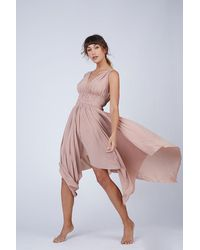 Norma Kamali Goddess Asymmetric Midi Dress - Pink