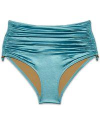 Marlies Dekkers Holi Glamour High Waist Bikini Bottom - Blue