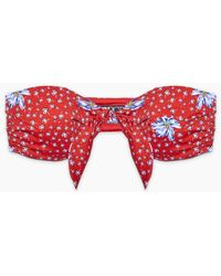 Beach Riot Sophie Front Knot Bandeau Bikini Top - Red
