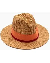 Hat Attack Raffia Crochet Rancher Hat - Toast/pink
