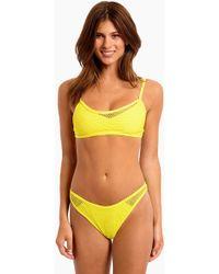 L*Space Naomi Mesh Bralette Bikini Top - Yellow