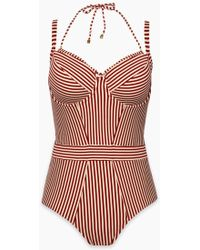 Marlies Dekkers - Holi Vintage Wired Padded One Piece Swimsuit (curves) - Red Ecru - Lyst