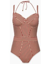 Marlies Dekkers Holi Vintage Wired Padded One Piece Swimsuit - Red Ecru