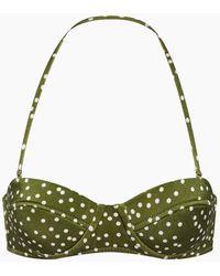 Adriana Degreas Underwire Bustier Bikini Top - Green