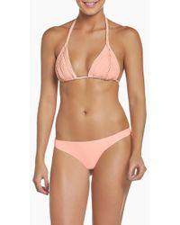 Pilyq Isla Macrame Triangle Bikini Top - Multicolor