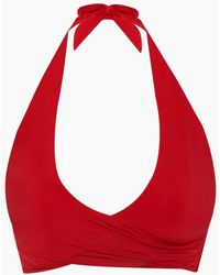 Heidi Klein Halter Wrap Bikini Top - Red