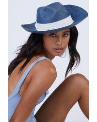 Kayu Coiba Straw Panama Hat - Blue