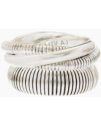 Luv Aj - Snake Chain Cigar Ring Set - Silver - Lyst