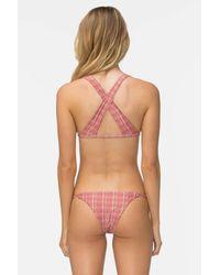 Tavik Asher Knotted Thin Strap Bikini Bottom - Red