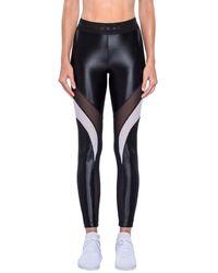Koral Frame Mesh Panel High Waist Leggings - Black