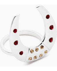 Vanessa Mooney The Brooklyn Horseshoe Ring - Metallic