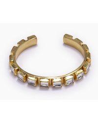 Lena Bernard Destina Disco Mirrored Brass Cuff Bracelet - Metallic