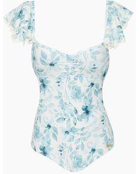 Saha - Samba Off Shoulder One Piece Swimsuit - Blossom - Lyst