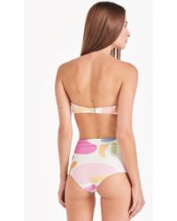 Triya Hot Pant High Waist Bikini Bottom - Multicolor