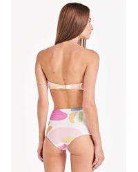 Triya Hot Pant High Waist Bikini Bottom - Multicolor