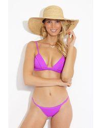 F E L L A. Lennox Triangle Bralette Bikini Top - Purple