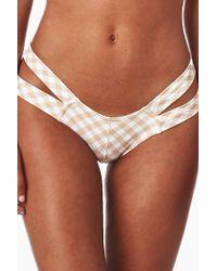 Montce Swim - Euro Double Strap Bikini Bottom - Nude Spring Gingham Print - Lyst