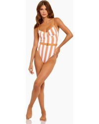 Onia Danielle Underwire One Piece Swimsuit - Nude Stripe - Multicolor