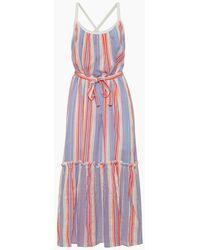 lemlem Fiesta Sun Maxi Dress - Orange