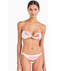 Triya - Bojo Babel Twist Bandeau Bikini Top - Artsy Color Print - Lyst