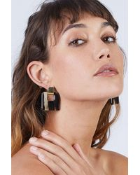 Soko Horn Door Knocker Earrings - Natural