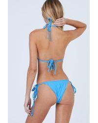 Aila Blue - Conch Tie Side Bikini Bottom - Patriot Blue - Lyst
