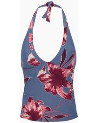 Seafolly Radiance Tankini Bikini Top - Grey