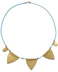 Sandy Hyun String Charm Choker Necklace - Metallic