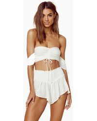 Blue Life - Tiara Tie Front Top - Ivory - Lyst