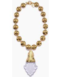 Lena Bernard Orina Bauble Crystal Pendant Necklace - Metallic
