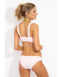 Solid & Striped The Madison Mid Rise Bikini Bottom - Pink