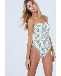 Vilebrequin Facette Multi-way Bustier One Piece Swimsuit - Bamboo Song Jungle Print - Blue