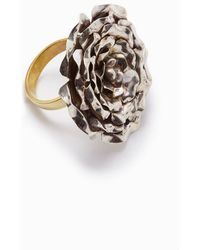 Lena Bernard - Large Silver Rose Gold Statement Ring - Lyst
