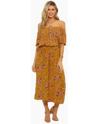 Patrons Of Peace - Off Shoulder Smocked Top - Sun - Lyst