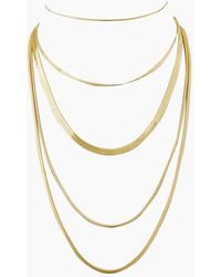 Luv Aj - Cascading Snake Chain Necklace - Gold - Lyst