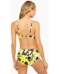 10 Crosby Derek Lam Zip Front High Waist Bikini Bottom - Yellow