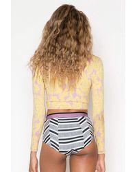 Seea Arcadia High Waist Full Bikini Bottom - White