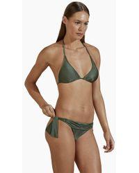 Agua de Coco Padded Halter Bikini Top - Green