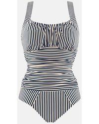 Marlies Dekkers Holi Vintage Underwire Padded One Piece Swimsuit - Blue Ecru