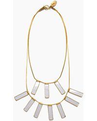 Lena Bernard Davina Mirrored Charm Brass Layered Necklace - Metallic