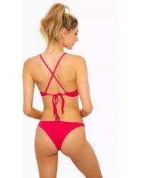 F E L L A. - Jasper Low Cut Cheeky Bikini Bottom - Fresia - Lyst