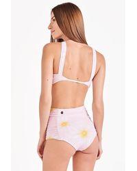 Triya Kitty High Waist Bikini Bottom - Pink