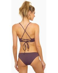L*Space - Estella Side Cut Out Bikini Bottom - Pebble - Lyst
