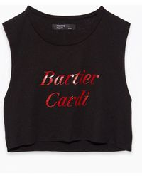 Private Party - Bartier Carti Crop Tank - Black - Lyst